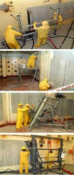 Crew applying EAI's Concrete Shaving Technology