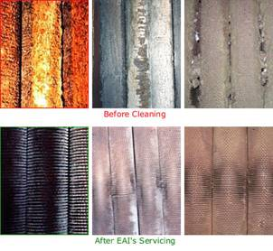 Before and After EAI HRSG Cleaning